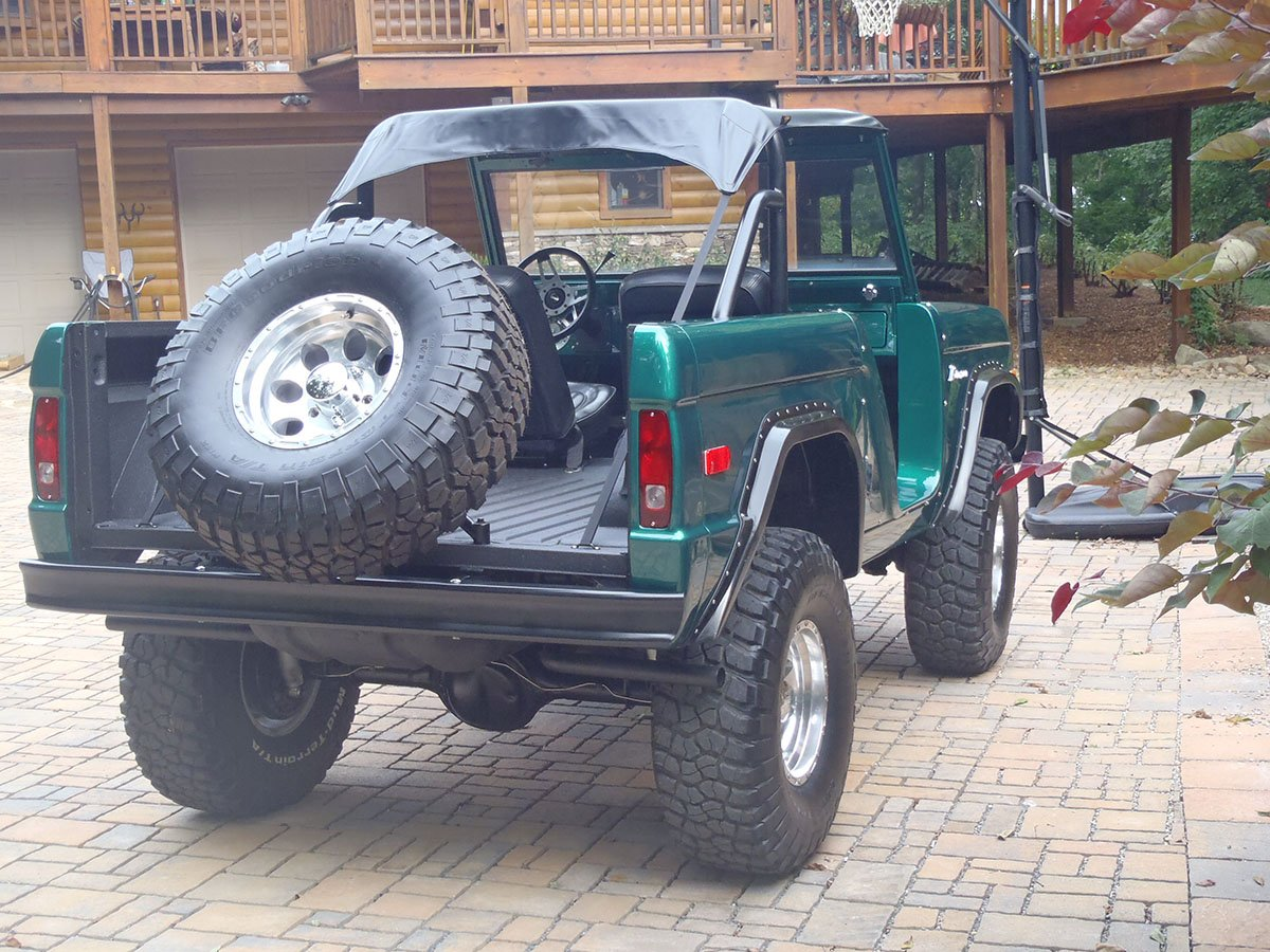 Rear End and Custom Bumper on Ford Bronco by Krawlers Edge