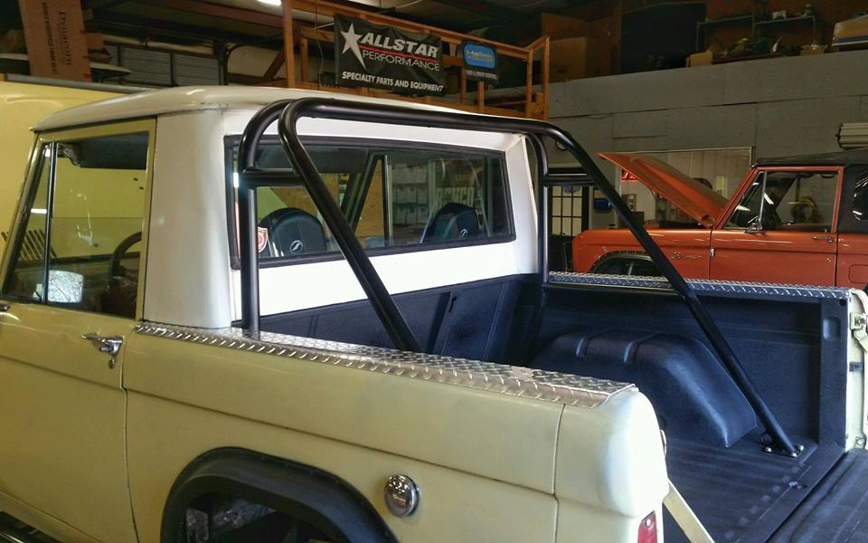 Half Cab Roll Cage for an Early Bronco