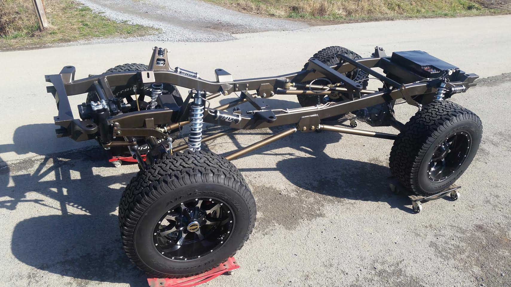 Krawlers Edge Rolling Chassis for an Early Bronco
